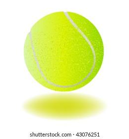 vector tennis ball