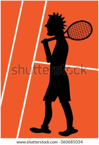 Tennis Player Silhouette Stock Vector Image 74260258 Viewinviteco
