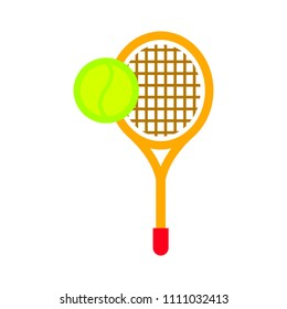 vector tennis racket with tennis ball, sport icon