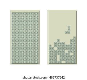 Vector tetris game