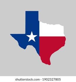 Vector Texas Flag Map Illustration