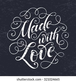 vector text on texture background. Lettering for invitation and greeting card, prints and posters. Hand drawn inscription, calligraphic design
