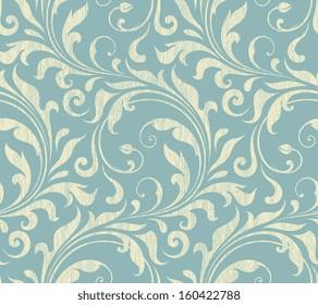 Vector textile / wallpaper damask seamless pattern.