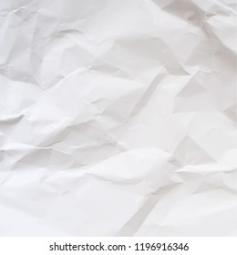 Vector texture of crumpled paper. Realistic illustration.