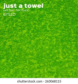 vector texture terry towel green cotton for your design
