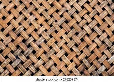 Vector, Thai handcraft of bamboo weave pattern for background use