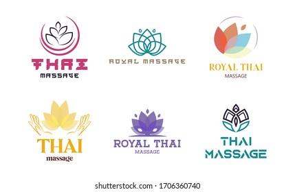Vector Thai massage logo template