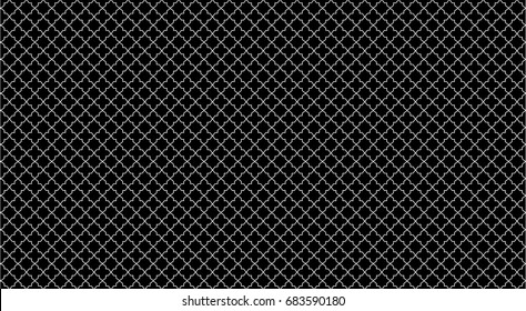 Vector Thai pattern black and white. line thai design.