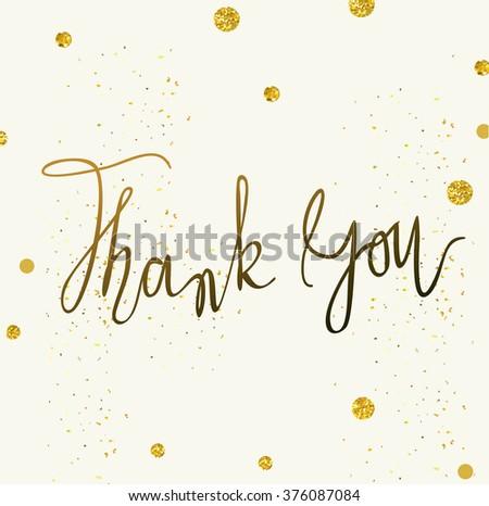 Vector Thank You Card Template Tony Stock Vector Royalty Free