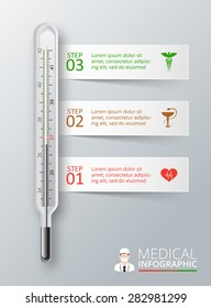 Clinical thermometer images stock photos vectors shutterstock vector thermometer for infographics template for diagram graph presentation and chart medical ccuart Images