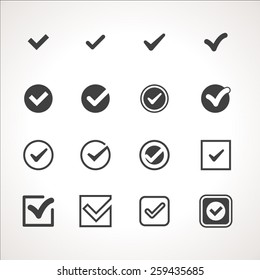 Vector Tick Check Mark Icon Set