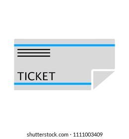 vector ticket illustration - entertainment pass isolated