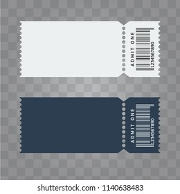 Vector Ticket template design. Trendy blank ticket template layout.