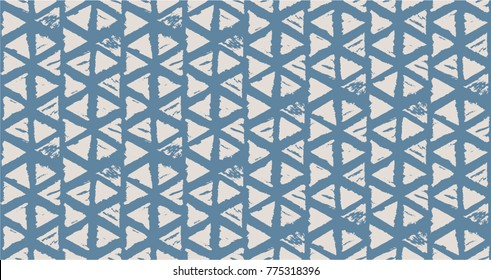 Vector tie dye seamless pattern. Hand drawn shibori print. Ink textured japanese background. Modern batik wallpaper tile. Watercolor indigo endless backdrop.