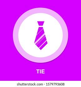 Vektorbinde, Bekleidungsmode einzeln - Design-Modegrafik - scharfes Symbol