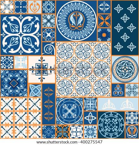 Vector Tiles Moroccan Tiles Seamless Pattern Stock Vector (Royalty ...