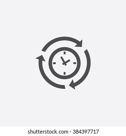 Vector time arrow Icon