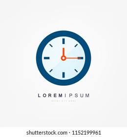 Vector time concept or clock business icon. Creative logotype design template