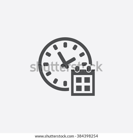 Vector time date Icon