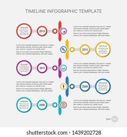 Vector timeline infographic design template your company milestones