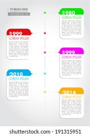 Vector Timeline Infographic - eps illustration