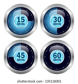 Vector timer icons set