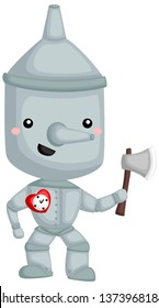 a vector of Tinman from wizard of oz story