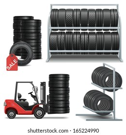 Vector Tire Shop Icons