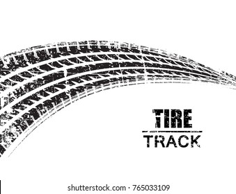 Vector Tire Track Background.Grunge Tire Track.
