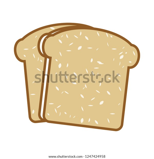 vector toast icon. Flat illustration of toast bread. french toast slice isolated on white background. breakfast meal sign symbol