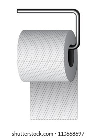 vector toilet paper on chrome holder