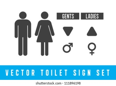 Vector Toilet signs set
