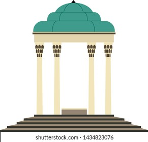 Vector of Tomb of Hafez, Shiraz, Iran