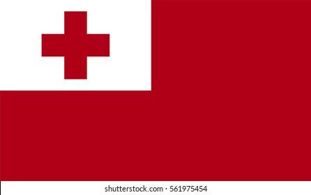 Vector Tonga flag, Tonga flag illustration, Tonga flag picture, Tonga flag image