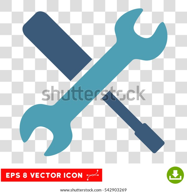 Vector Tools EPS vector pictogram. Illustration style is flat iconic bicolor cyan and blue symbol on a transparent background.