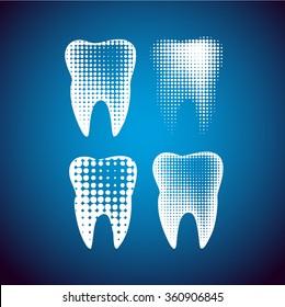Vector Tooth Icon Symbol. Vector