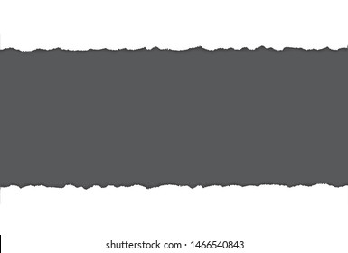 vector torn paper with ripped edges with gray space for your text