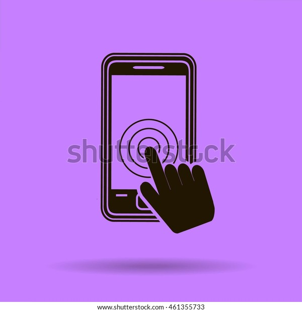 Vector touch screen smartphone icon