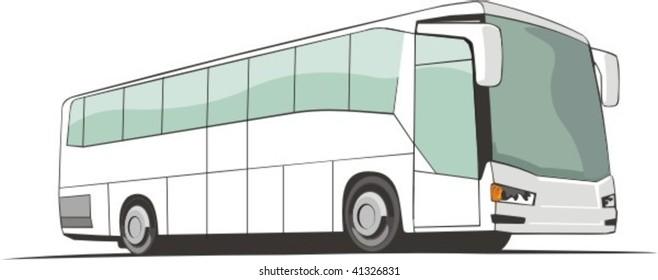 vector touristic bus