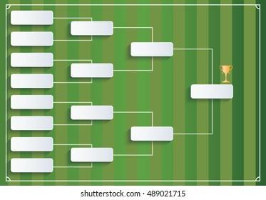 Vector tournament bracket (football, soccer)