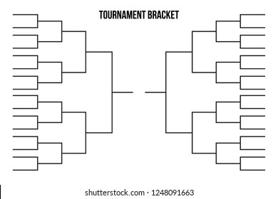 Vector Tournament Bracket Templates For 32 Teams