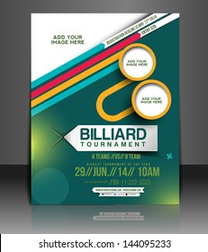 Vector Tournament Brochure, Flyer, Magazine Cover & Poster Template