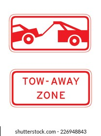 Vector 'Tow-Away Zone' traffic sign