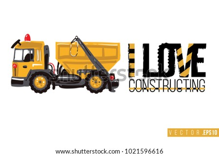 Vector Toy Garbage Truck Motivational Text Stock Royalty