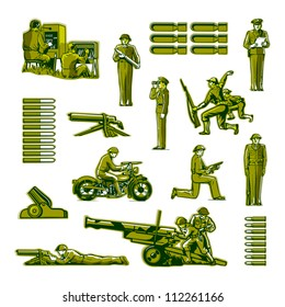 Vector Toy Soldiers Army Men