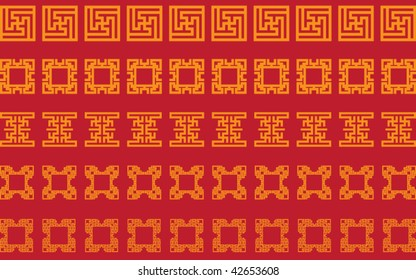 Vector of traditional border pattern