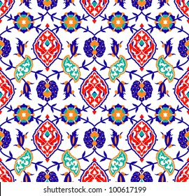 Vector of Traditional Islamic flower Pattern on white