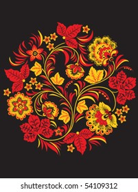 Vector tradtitional floral ornament