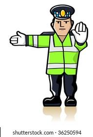 Vector Traffic Officer
