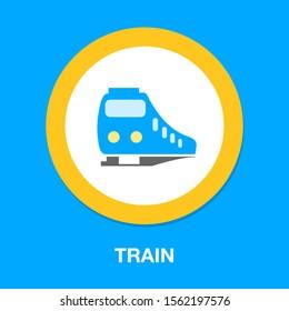 Vector Train icon. subway Train
